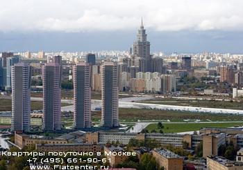 Высотные дома в Беговом районе Москвы.Панорама на Беговой