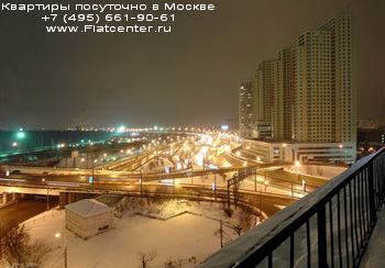 Беговой район Москвы вечером. Панорама Бегового района