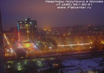 Ночное вид на Бутырский район Москвы