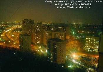 Район Бутырского района Москвы ночью