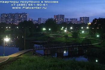 Район Москвы Бибирево после заката солнца