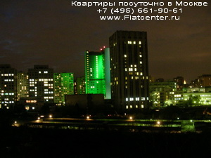 Ночной вид на район Черемушки