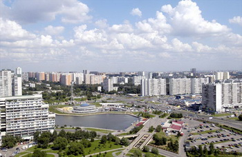 Вид на район Москвы Чертаново Центральное