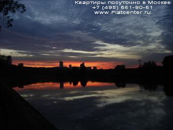 Ночной вид на район Москвы Ново-Переделкино
