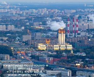 Панорама Гагаринского района.Аренда квартир посуточно в Гагаринском районе на Ленинском проспекте