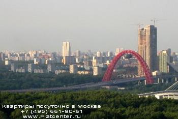 Вид района Хорошево-Мневники
