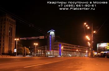 Ночной вид на Красносельский район Москвы.Квартиры посуточно на Краснопрудной