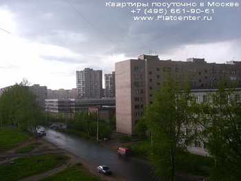 Панорама с Русаковской улицы Красносельского района.Гостиницы на Русаковской улице