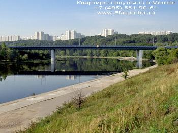 Панорама Моста в Крылатском районе Москвы