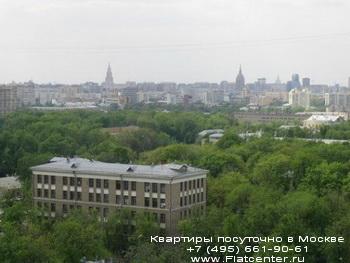 Панорама района Москвы Лефоротово. Апартаменты на сутки в районе Лефортово.