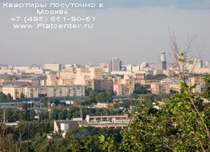 Вид на Ленснкий проспект,рядом Воробьёвы Горы и Университет.Юго-Запад Москвы