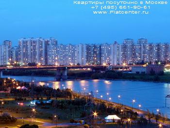Набережная Москва-реки в районе Москвы Марьино. Квартиры посуточо в Марьино.