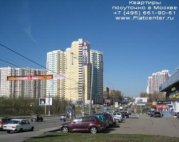 Каширское шоссе в районе Москвы Москворечье-Сабурово