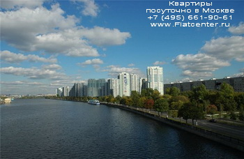 Вид на район Москвы Нагатинский Затон