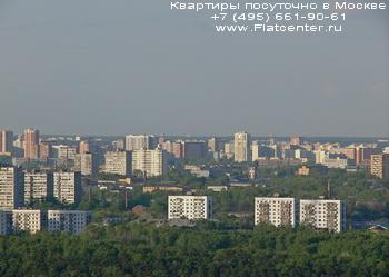 Панорама района Москвы Покровское-Стрешнево