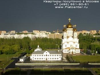 Спасо-преображенский собор в Преображенском районе. Вид на Преображенский район Москвы