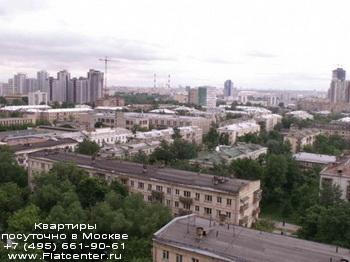 Панорамный вид на Пресненский район Москвы