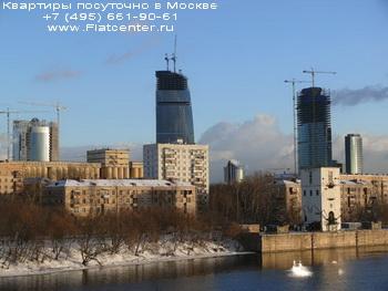 Вид на Краснопресненскую набережную Пресненского района