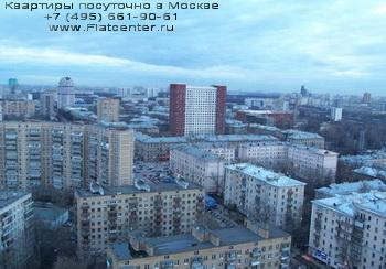 Панорама района Москвы Щукино.