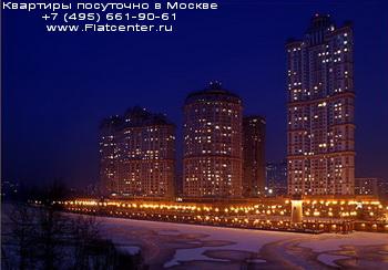 Район Москвы Щукино вечером