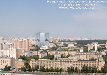Вид на район Москвы Сокол. Понорама района Москвы Сокол