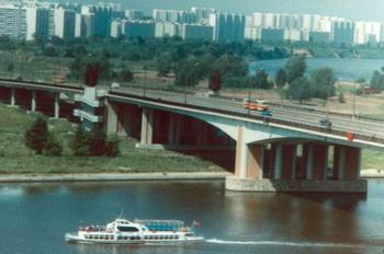 Мост в районе Москвы Строгино