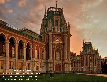 Район Москвы Царицино в лучах заходящего солнца