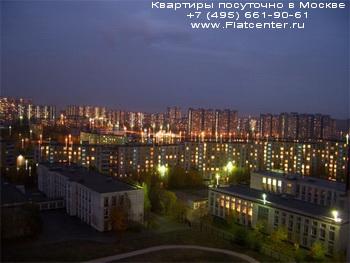 Ночная фотография района Ясенево