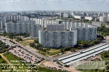Квартал района Москвы Зябликово