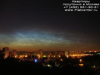 Ночной вид района Зябликово