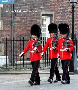 Смена караула в Лондоне.