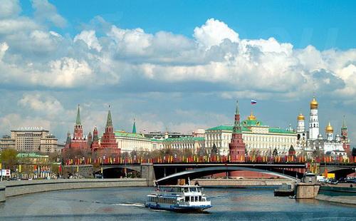 Панорама города Москвы.Московский Кремль