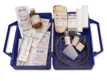 Это аптечка для туриста, которую следует взять с собой в путешевствие