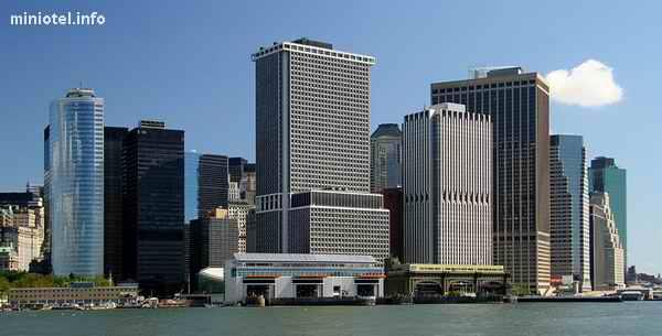 Панорама Нью-йорка,нижний Манхеттен