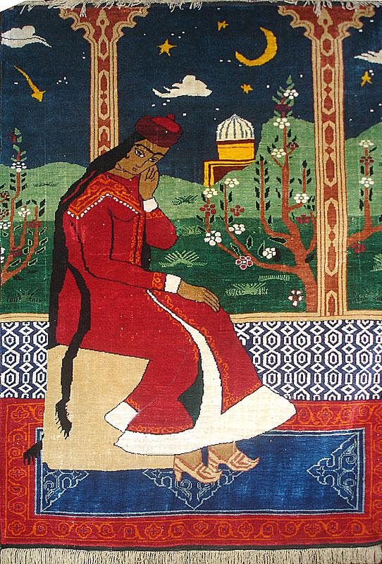 Фото классического восточного ковра.Персидский ковёр