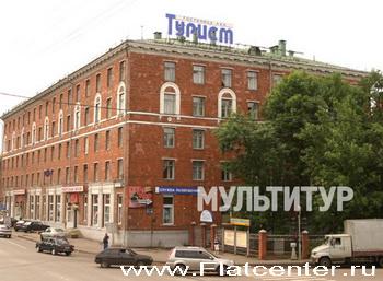 Фотография главного корпуса гостиницы Турист в Москве