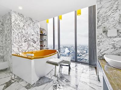 Фото, отзывы и рекомендации о номере с панорамным видом в отеле «Sky Apartments» в башне «Федерация-Запад»
