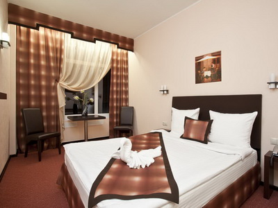 Фото, отзывы и рекомендации о номере с панорамным видом в отеле «Инсайд Бизнес Румянцево» в Бизнес-Центре Румянцево