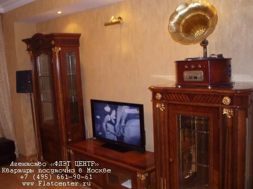 Двухкомнатная квартира посуточно на Новом Арбате в доме 22