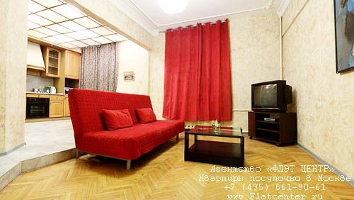 Квартира посуточно на м.Белорусская,М.Тишинский д.11/12.