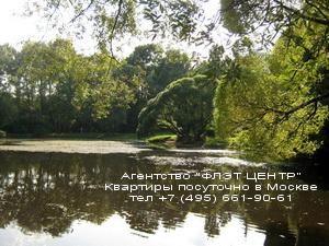 Агентство ФЛЭТ ЦЕНТР - аренда квартир посуточно у м.Филёвский Парк.Фотография парка в Филях осенью