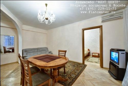 Квартира посуточно на м.Фрунзенская,ул.Комсомольский пр-т д.36.
