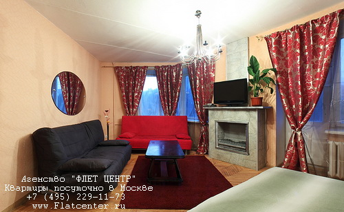 Квартира посуточно на м.Ленинский пр-т,Ленинский проспект 34/1.