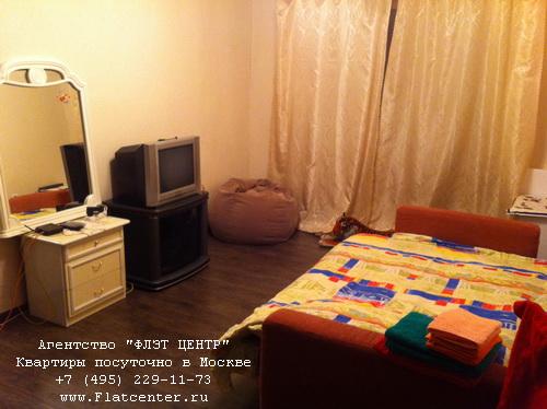 Однокомнатная квартира посуточно вблизи метро Печатники, ул.Шоссейная д.3
