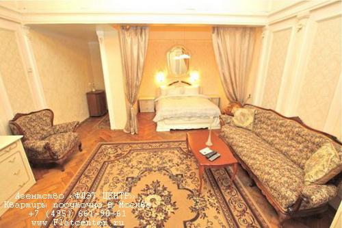 Квартира посуточно на м.Пушкинская,Б.Гнездниковский д.10.