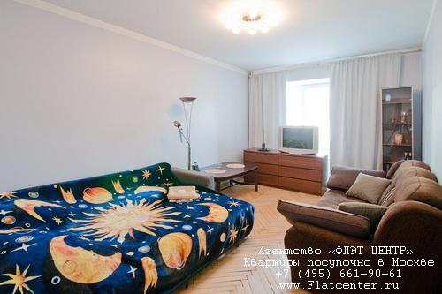 Квартира посуточно на м.Смоленская,1-й Смоленский пер. д.24.