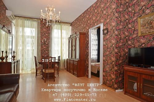 Квартира посуточно вблизи метро Смоленская, ул.Новинский бул д.1/2
