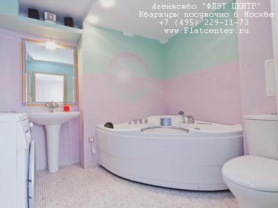 Джакузи в квартире-люкс с посуточной арендой в Москве