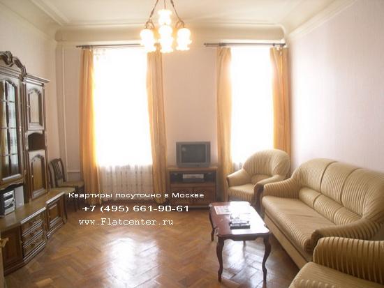 Квартира посуточно на м.Тверская.Гостиница Патриаршие пруду,М.Бронная ул.,ул.Спиридоновка