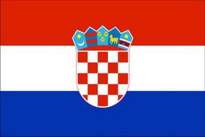 Фотография государственного флага Хорватии